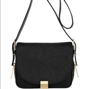 Ted Baker Mazeful Ponyskin Crossbody Bag Black